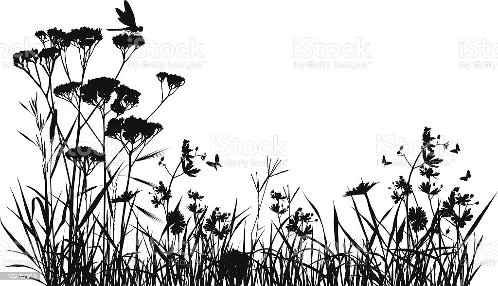 Clip Art Insect Meadow Silhouette stoc...