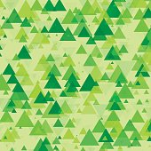 Meadow Triangle Geometric Graphic Pattern