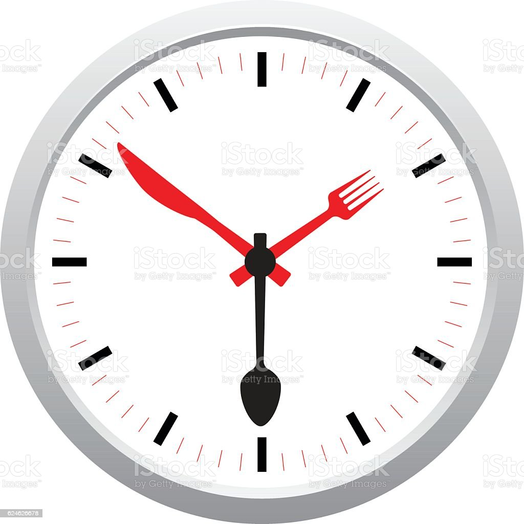 Meal clock concept vector art illustration