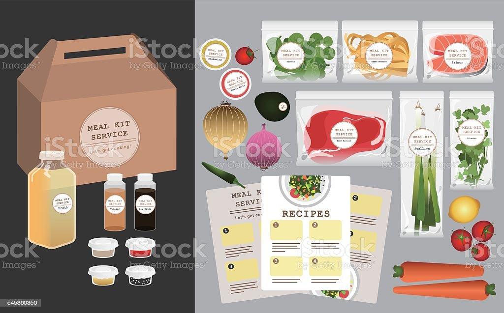 Meal Kit Service vector art illustration