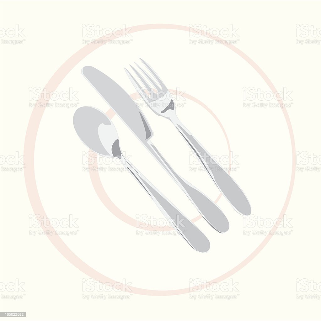 Meal Setting royalty-free stock vector art