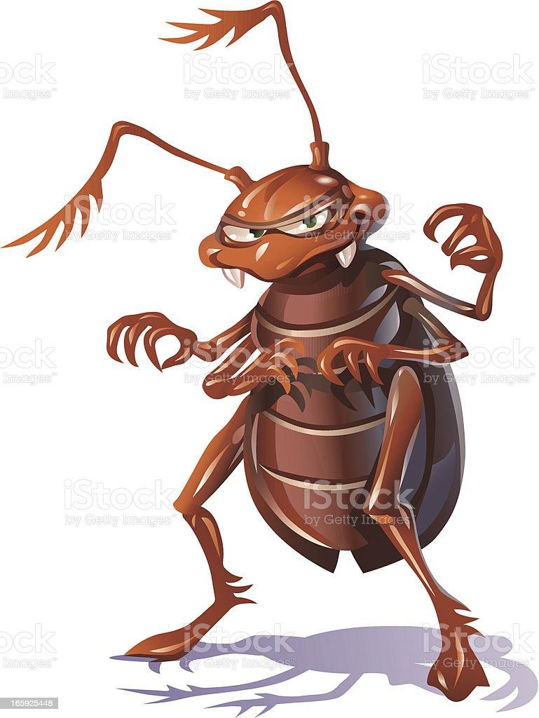 Mean Bug vector art illustration