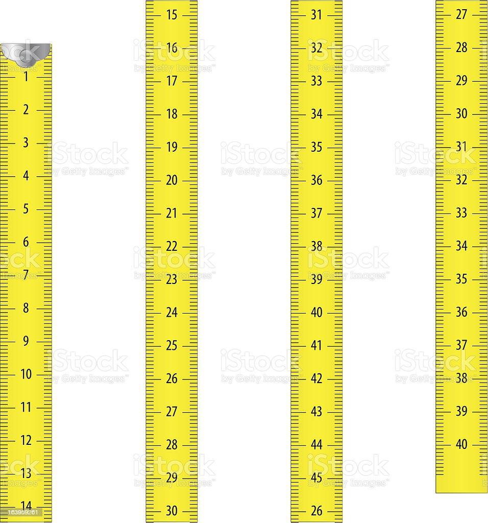 Measure tape (metric) vector art illustration