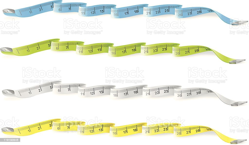 Measure tapes royalty-free stock vector art