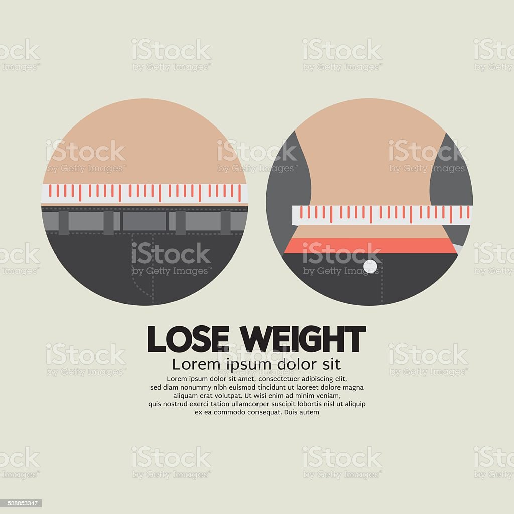 Measure TapFlat Design Lose Weight Healthy Concept vector art illustration