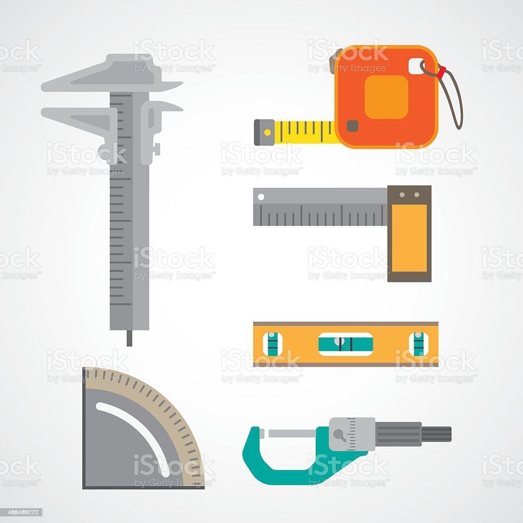 measurement icon vector art illustration