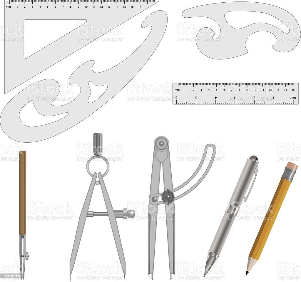 Measurement Instrument Set Vector royalty-free stock vector art