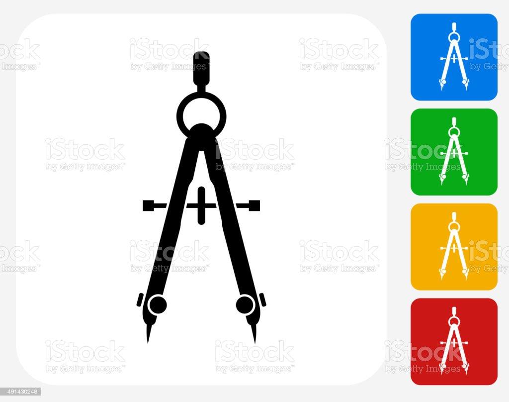 Measurement Tools Icon Flat Graphic Design vector art illustration