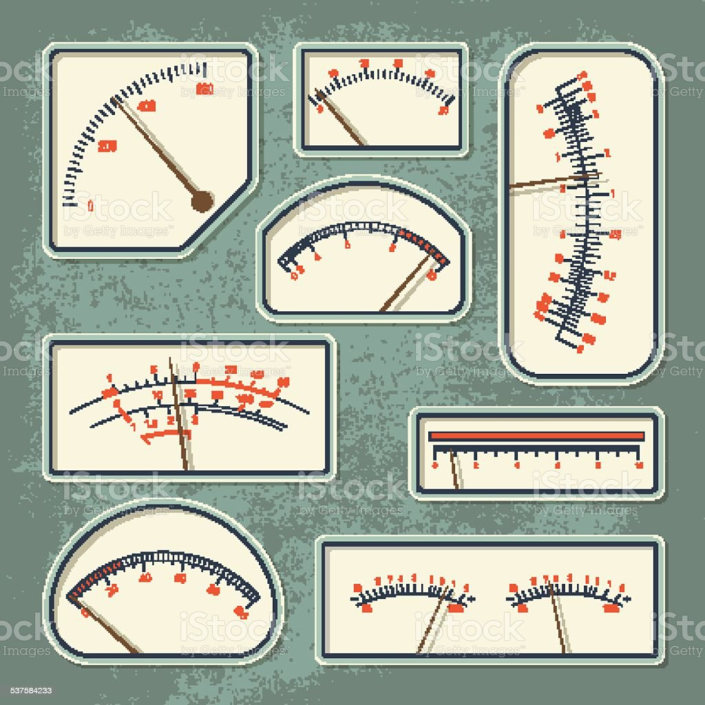 Measurers2 color vector art illustration