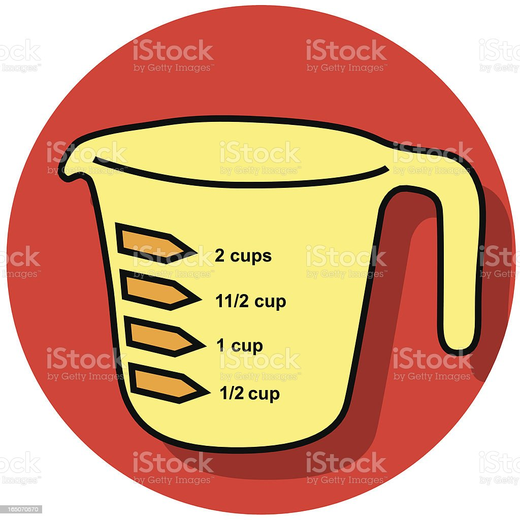 measuring cup icon royalty-free stock vector art