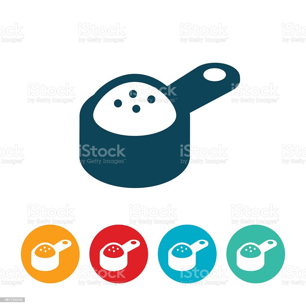 Measuring Cup With Ingredients Icon vector art illustration