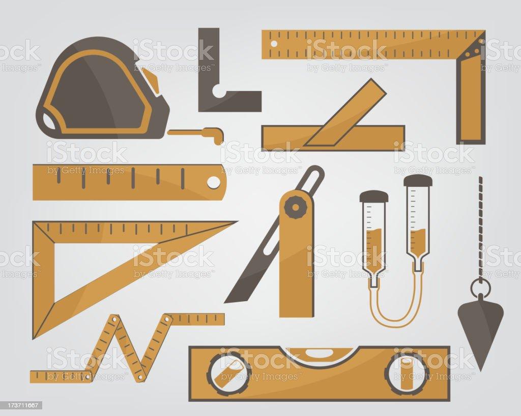 measuring instruments royalty-free stock vector art