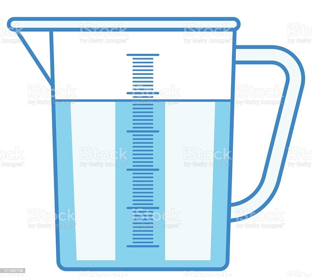 Measuring jug vector art illustration