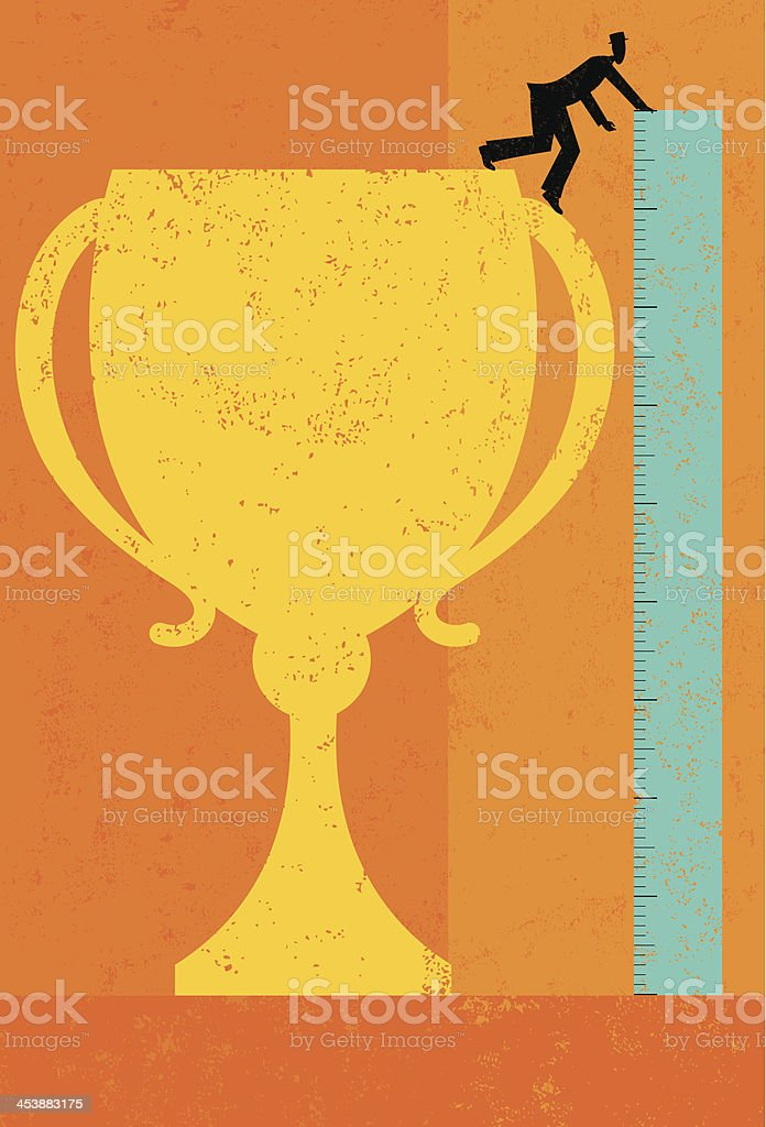 Measuring Success royalty-free stock vector art