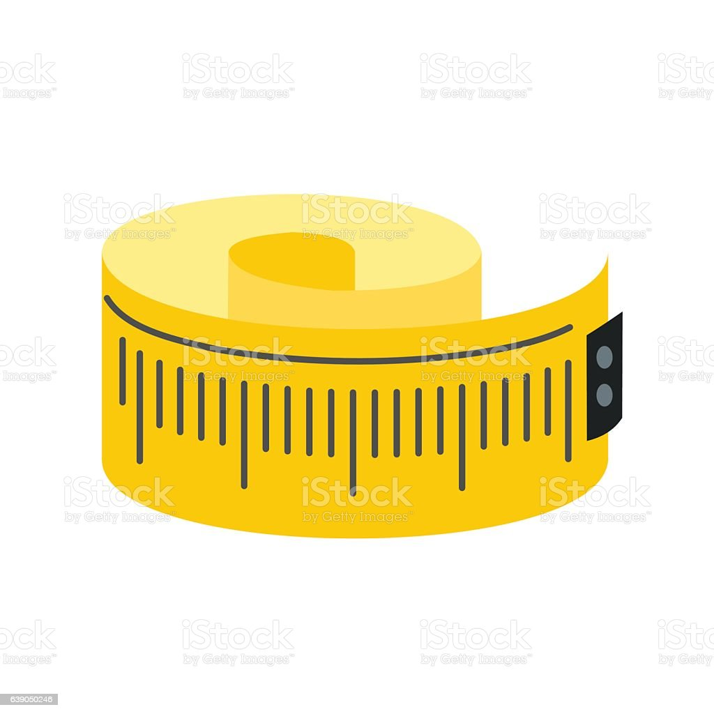 Vector of tape measure border a page border created from a rag tape - Measuring Tape Flat Icon Royalty Free Stock Vector Art