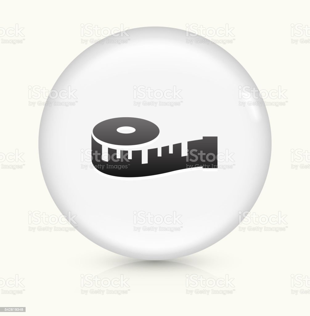 Vector of tape measure border a page border created from a rag tape - Measuring Tape Icon On White Round Vector Button Royalty Free Stock Vector Art