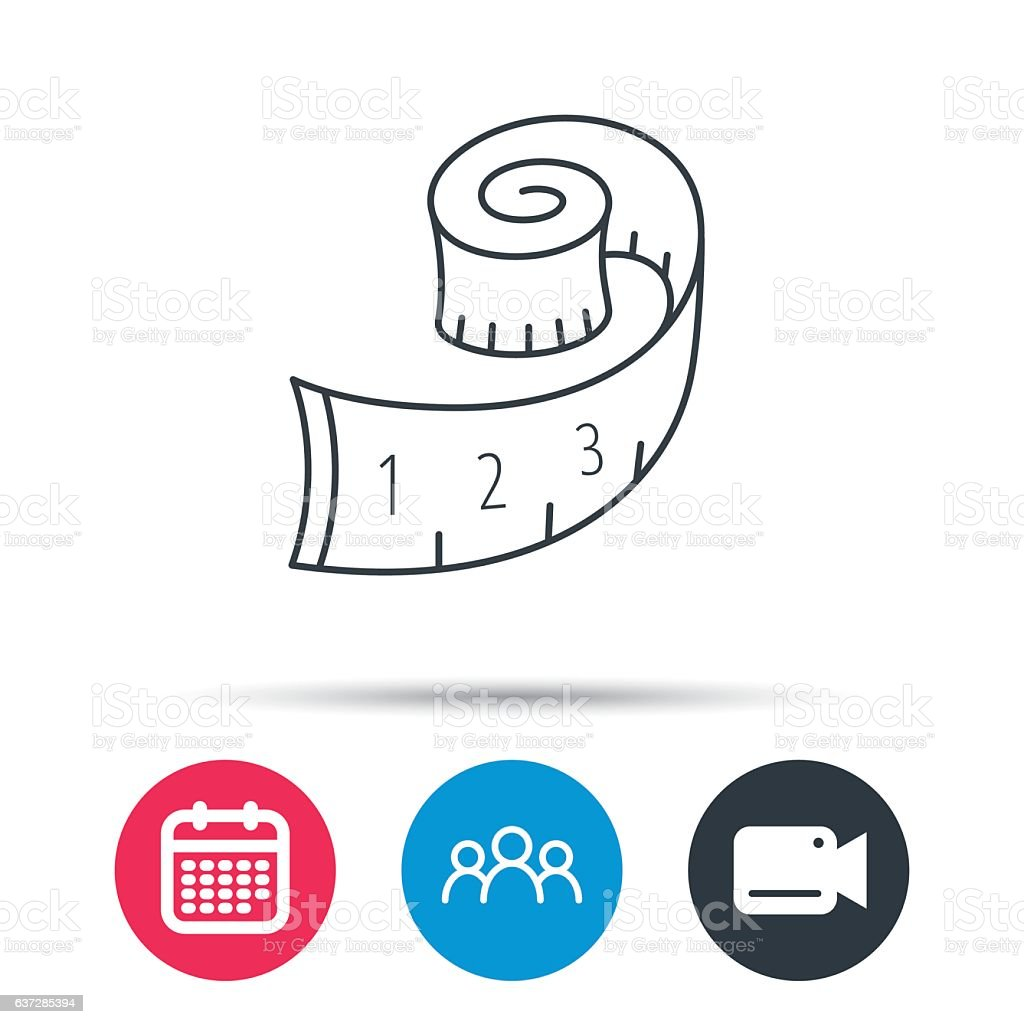 Vector of tape measure border a page border created from a rag tape - Measuring Tape Icon Weight Loss Sign Royalty Free Stock Vector Art