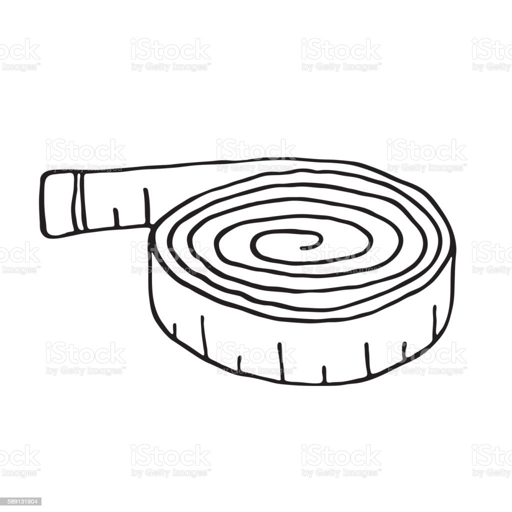 Vector of tape measure border a page border created from a rag tape - Measuring Tape Outline Royalty Free Stock Vector Art