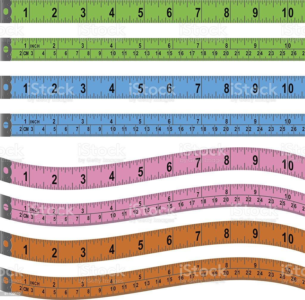 Measuring Tape Set vector art illustration