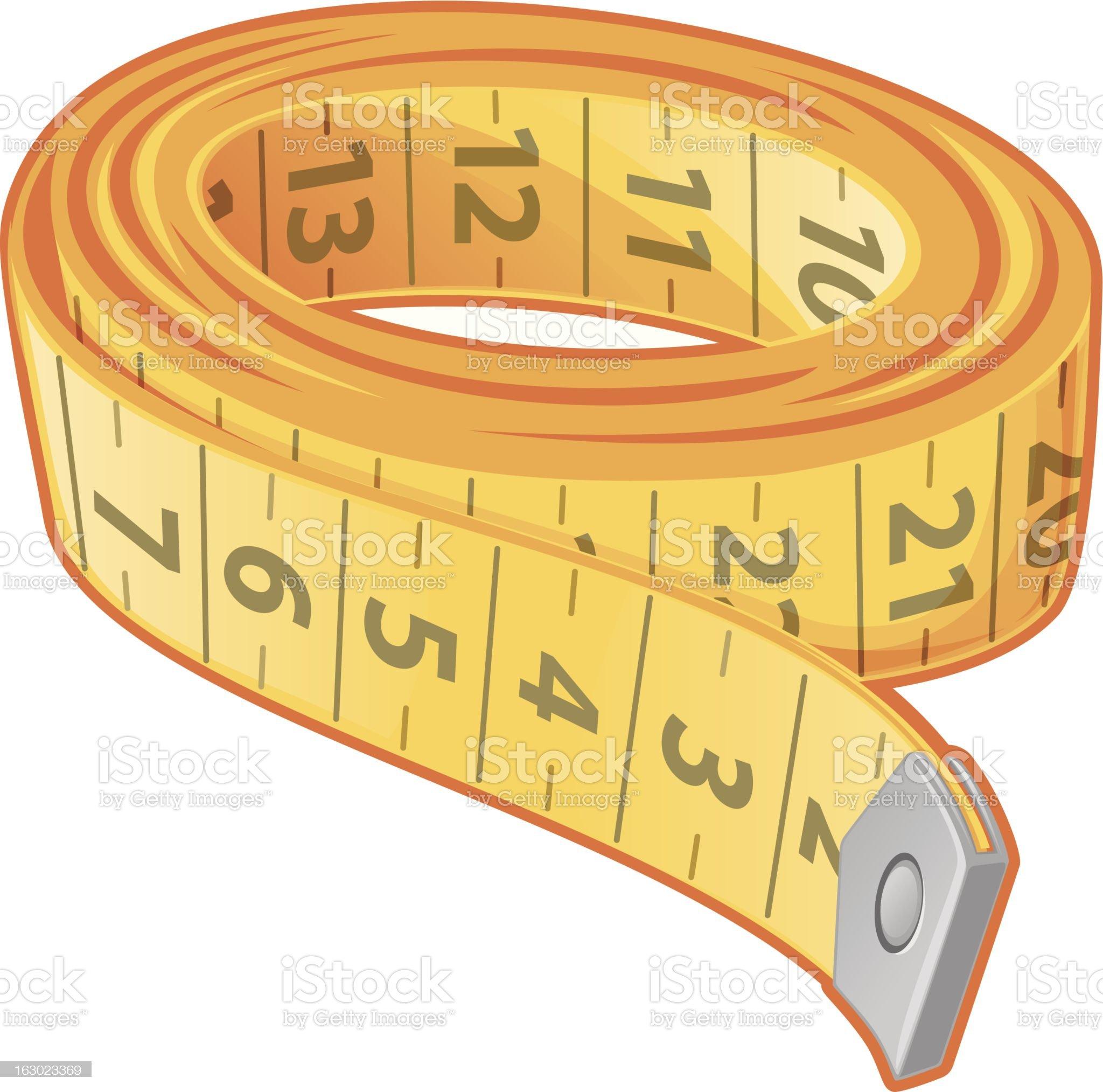 Measuring Tape royalty-free stock vector art