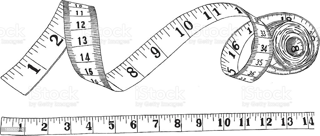 Measuring tape royalty-free stock vector art