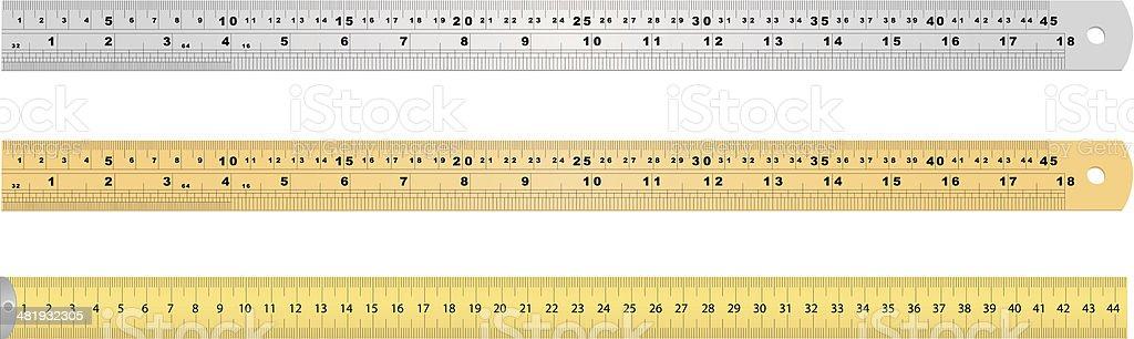 Measuring Tools vector art illustration