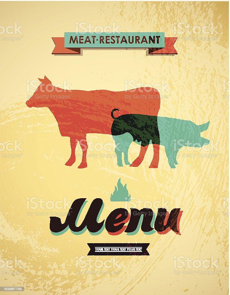 Meat menu. Vector illustration vector art illustration