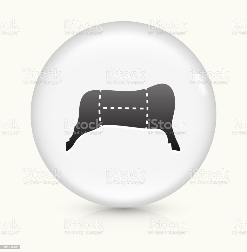 Meat Sections icon on white round vector button vector art illustration