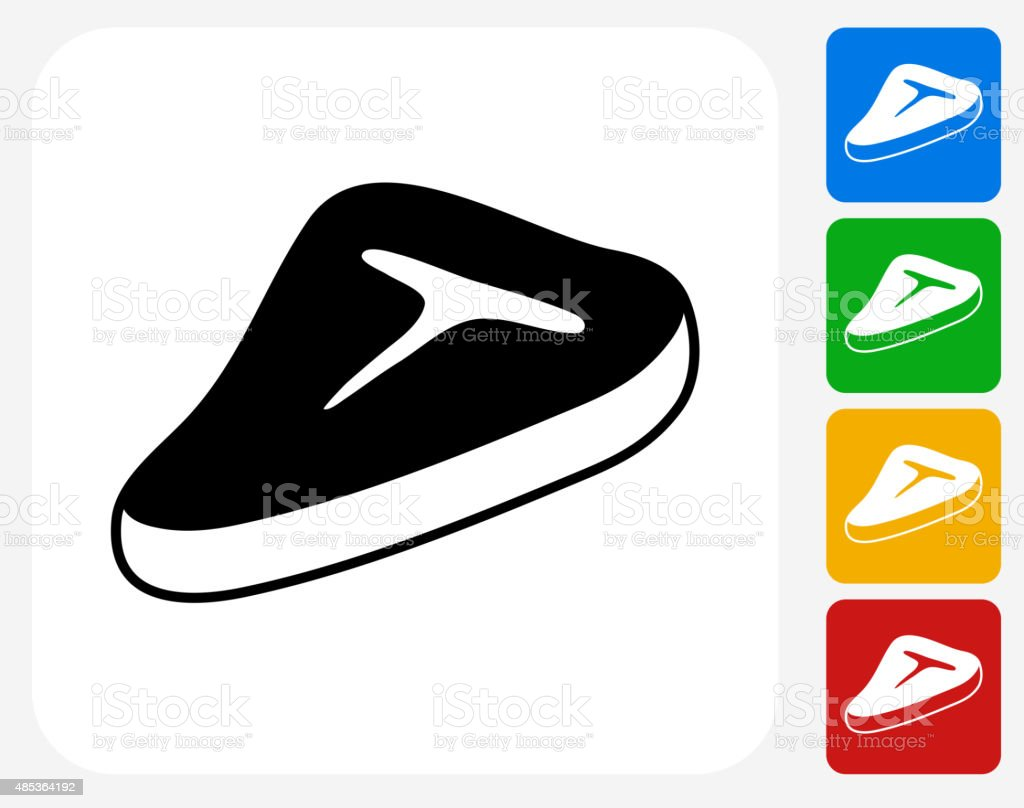 Meat Stake Icon Flat Graphic Design vector art illustration