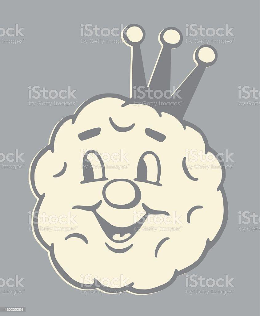 Meatball King vector art illustration