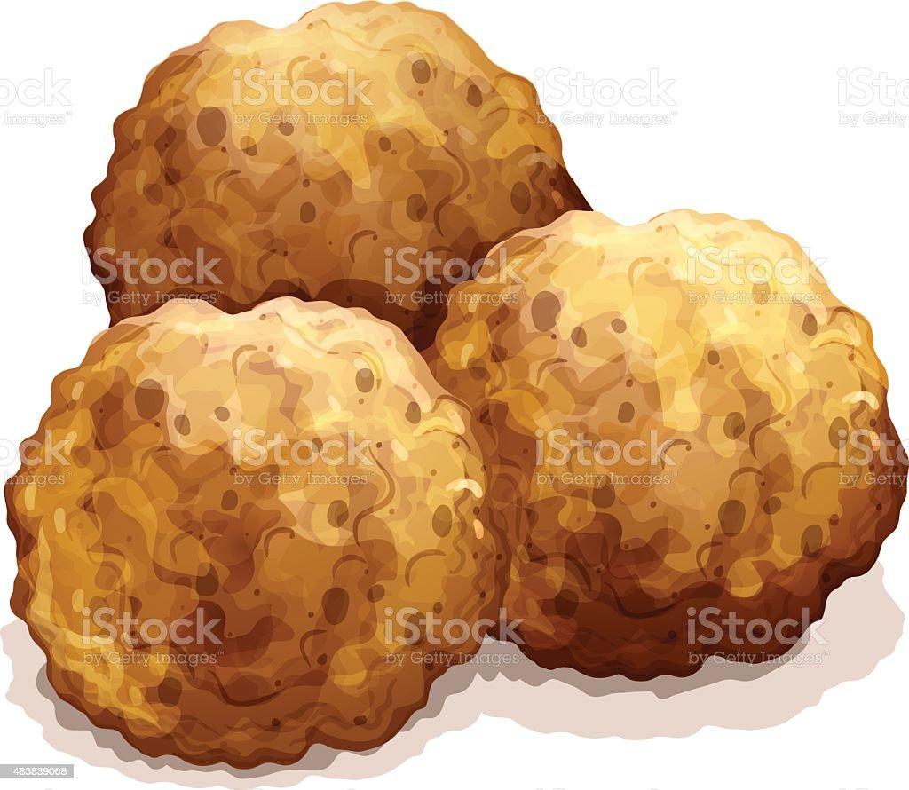 meatball vector art illustration