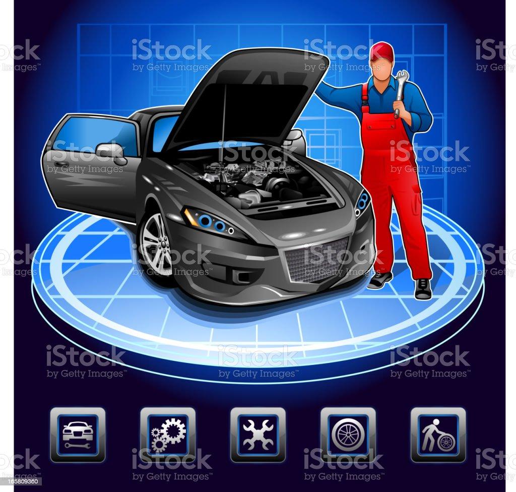 Design car repair workshop - Auto Repair Shop Working Workshop Adjustable Wrench Adult