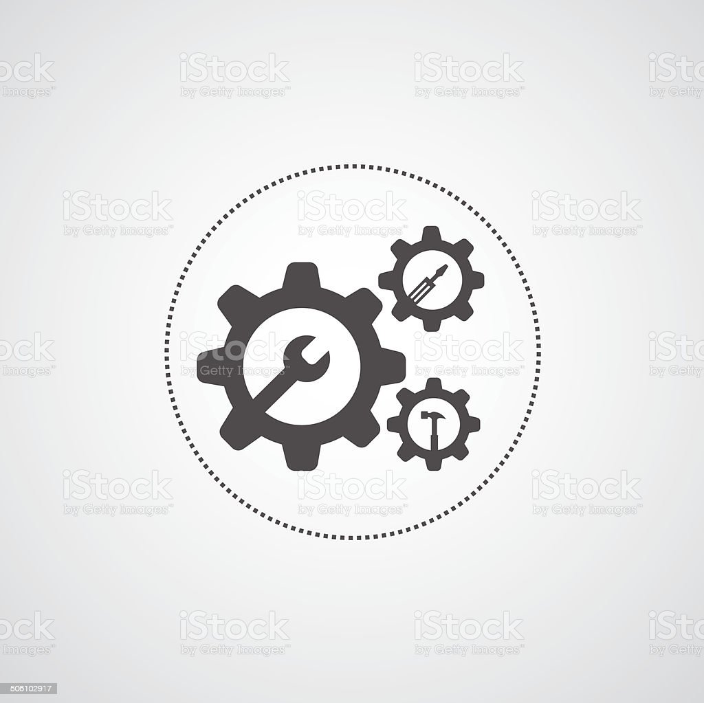 mechanic symbol vector art illustration