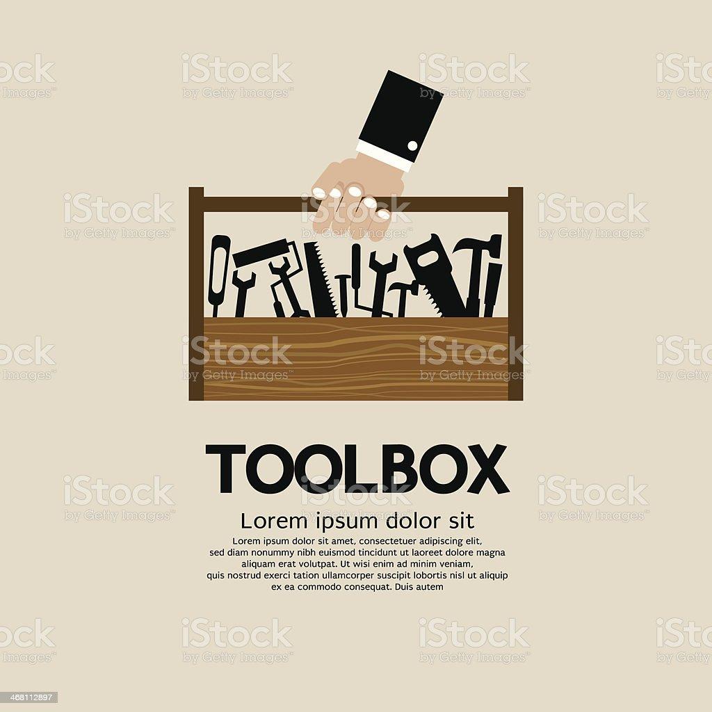 Mechanic Toolbox. vector art illustration