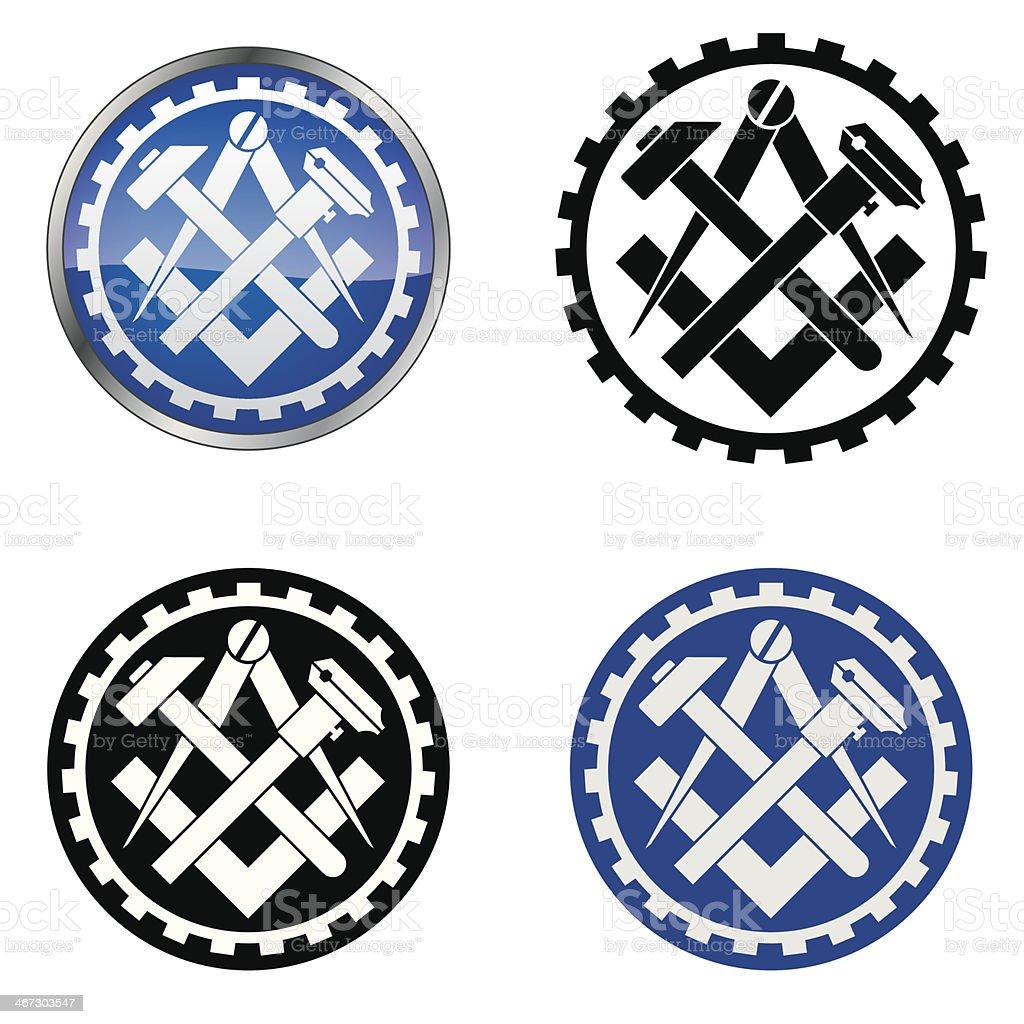 Mechanic - Traditional Trade Symbol vector art illustration