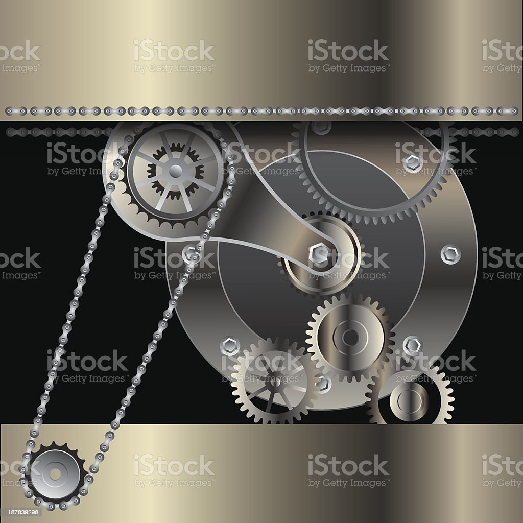 mechanical background royalty-free stock vector art