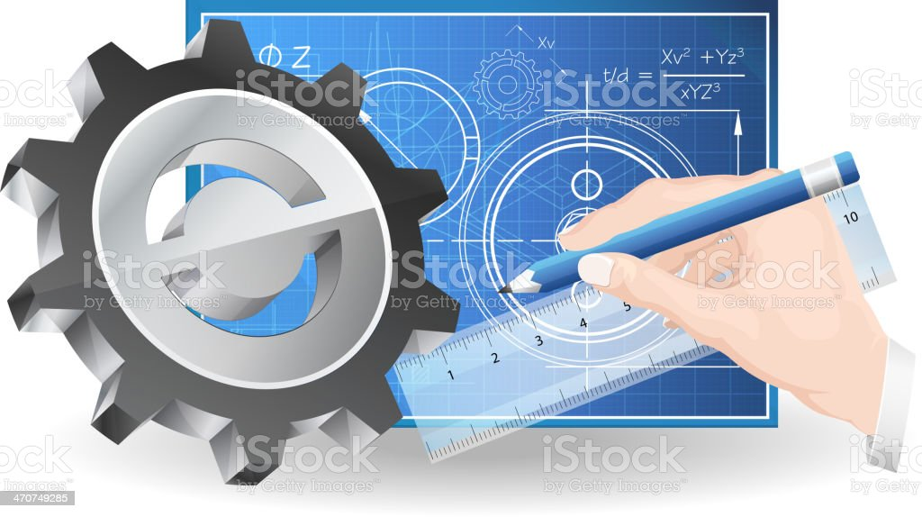 Mechanical Design Services royalty-free stock vector art