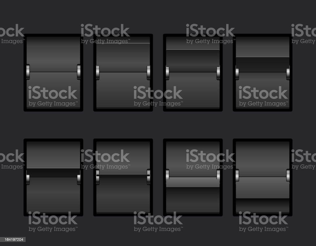 Mechanical Panel Change royalty-free stock vector art