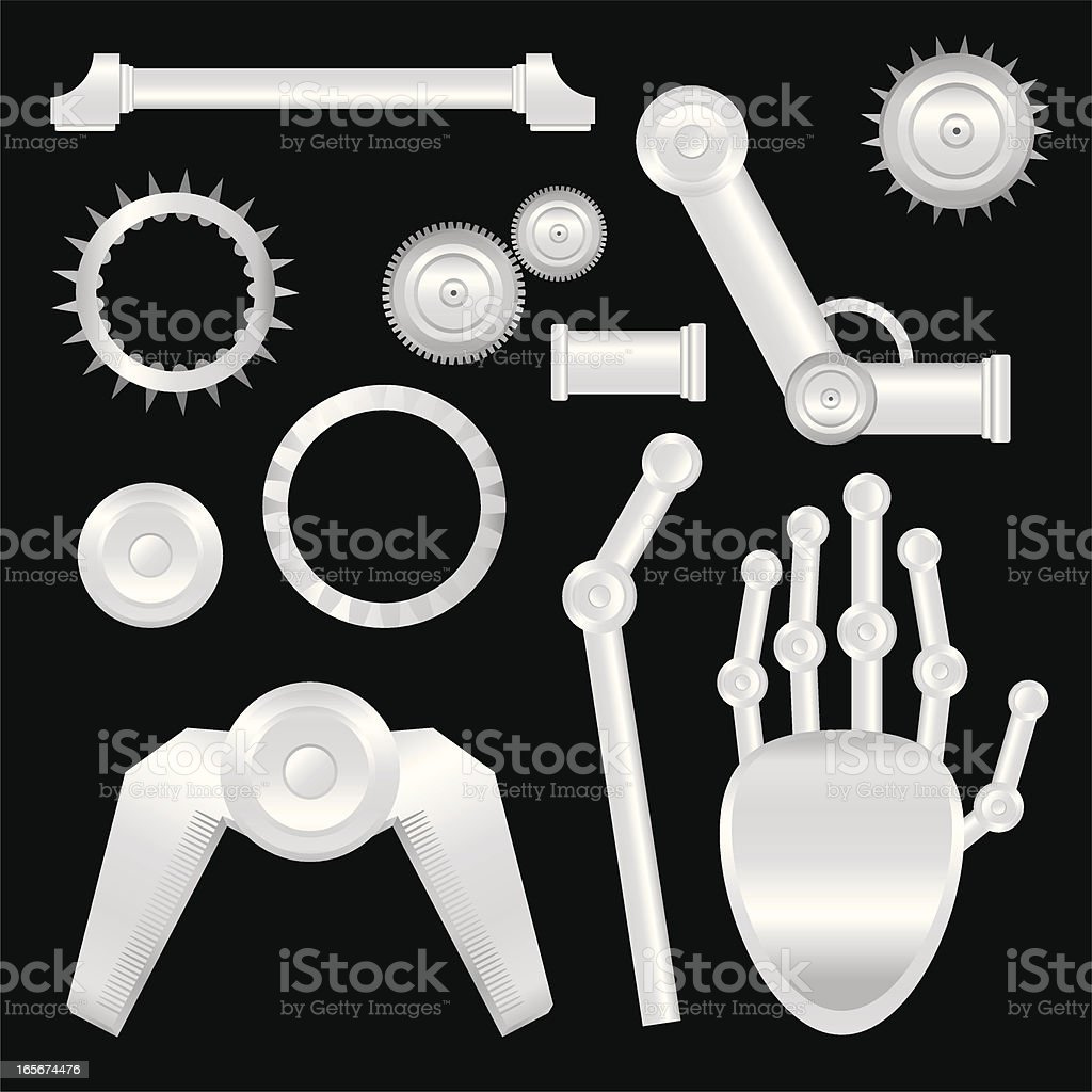 Mechanical Parts royalty-free stock vector art