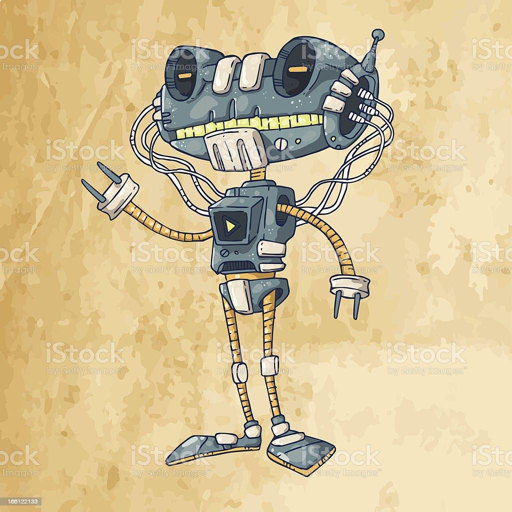 mechanical robot royalty-free stock vector art