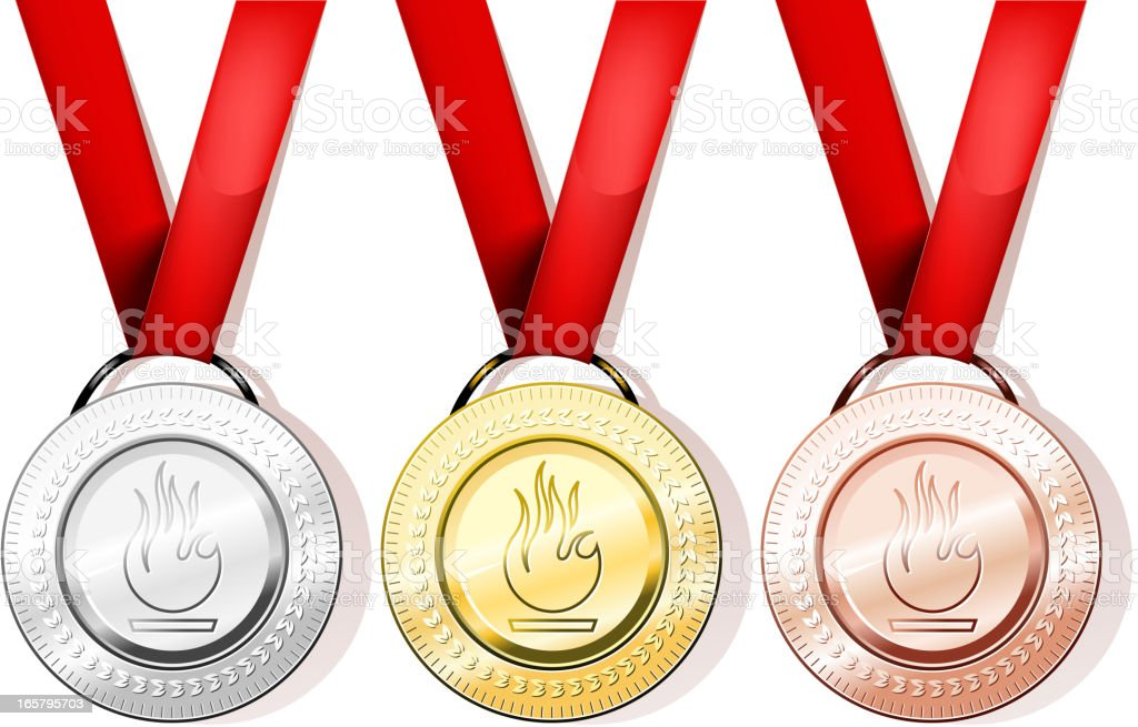 medal collection royalty-free stock vector art