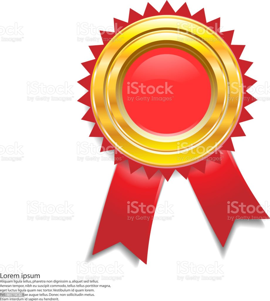 medal gold royalty-free stock vector art