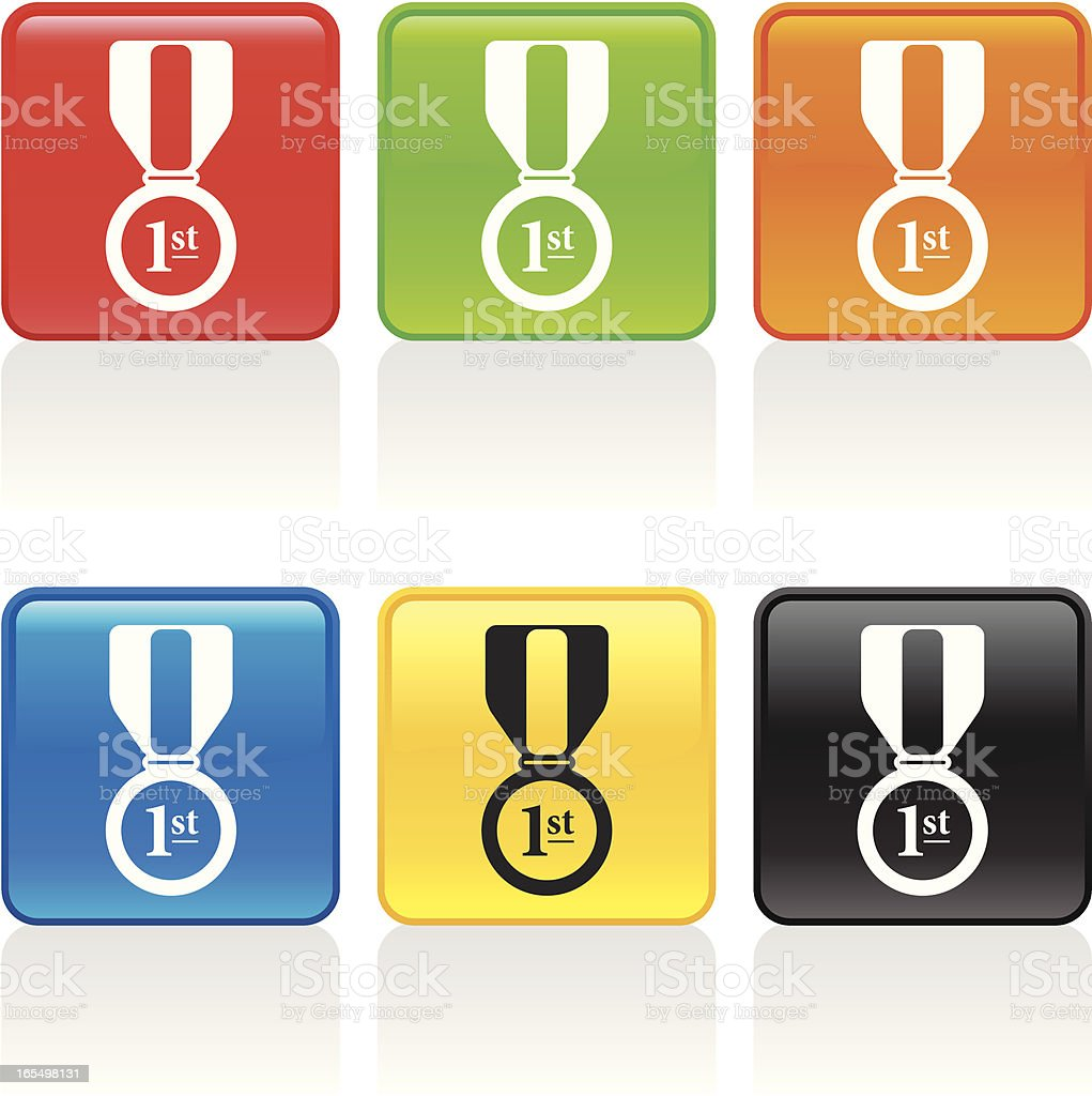 Medal Icon - First Place royalty-free stock vector art