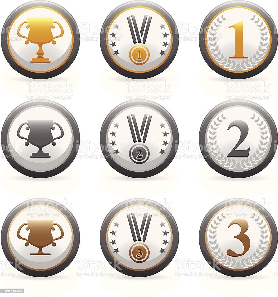 Medal Icons royalty-free stock vector art
