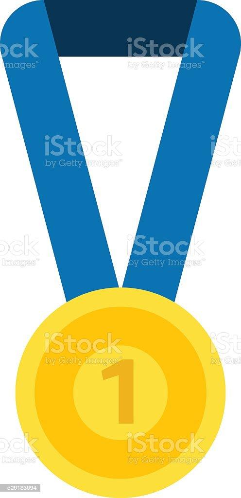 Medal isolated vector illustration vector art illustration