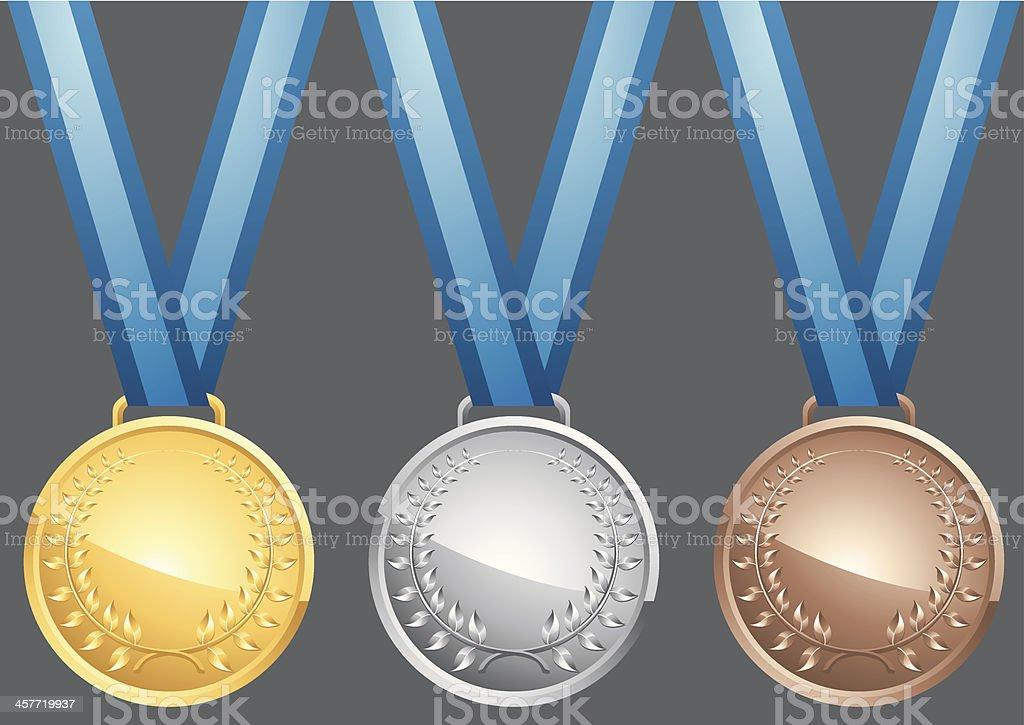 Medal Plate royalty-free stock vector art