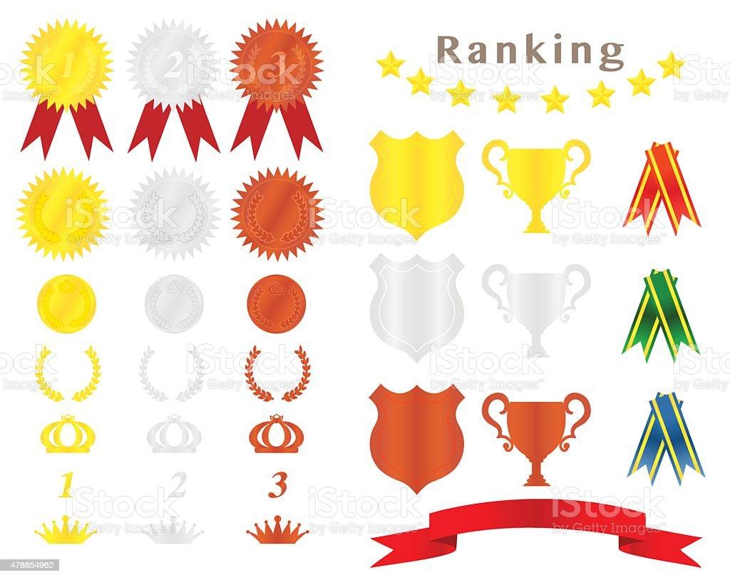 medal ribbon vector art illustration