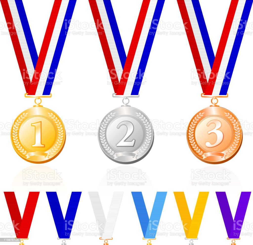 Medal with ribbon royalty-free stock vector art