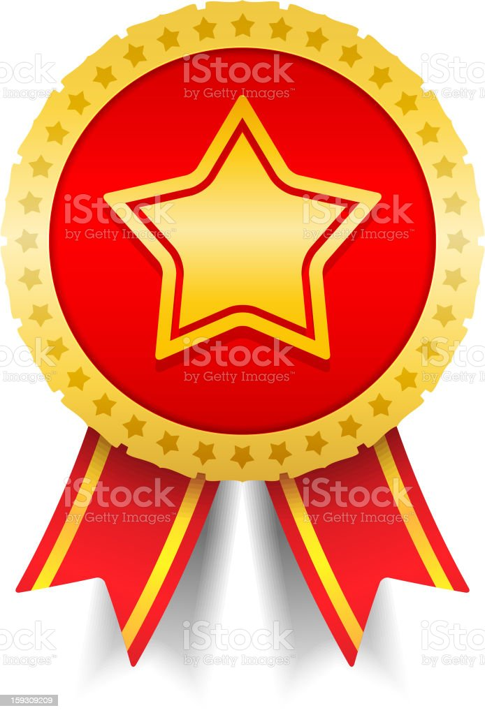 Medal with Star royalty-free stock photo