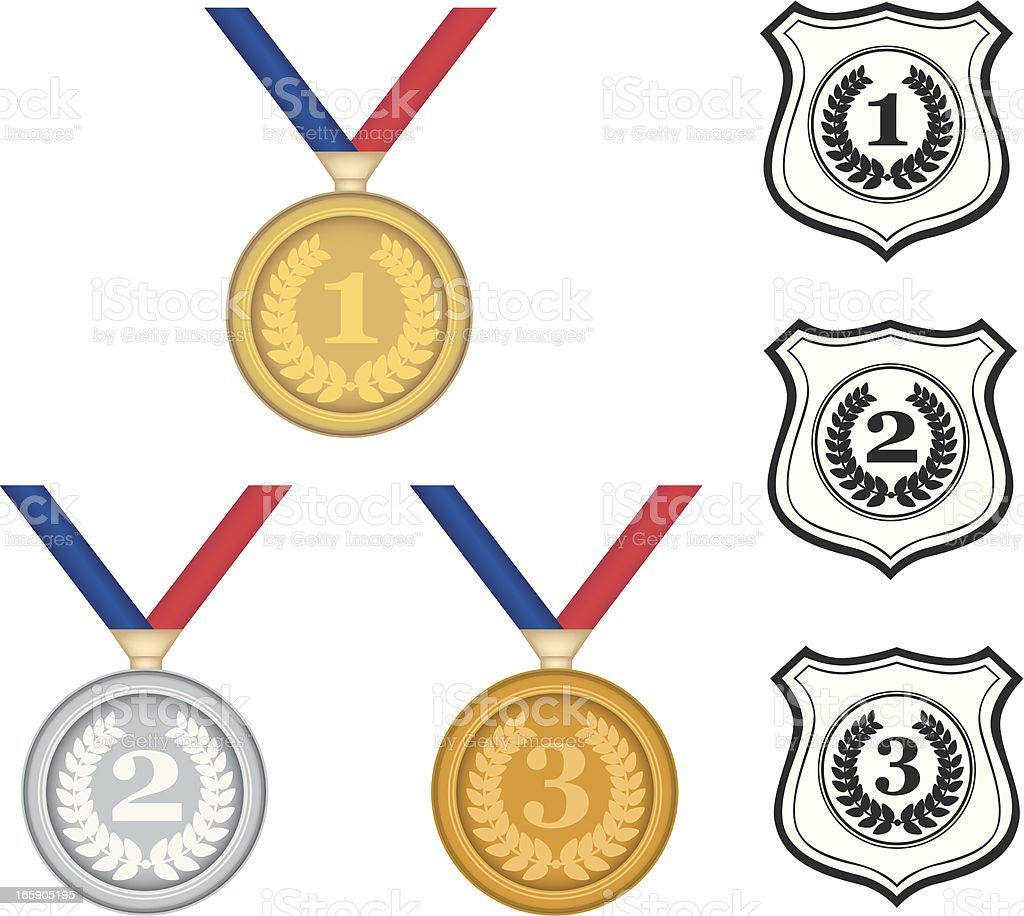 Medals And Shilds royalty-free stock vector art